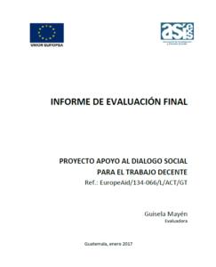 Informe evaluación Diálogo social