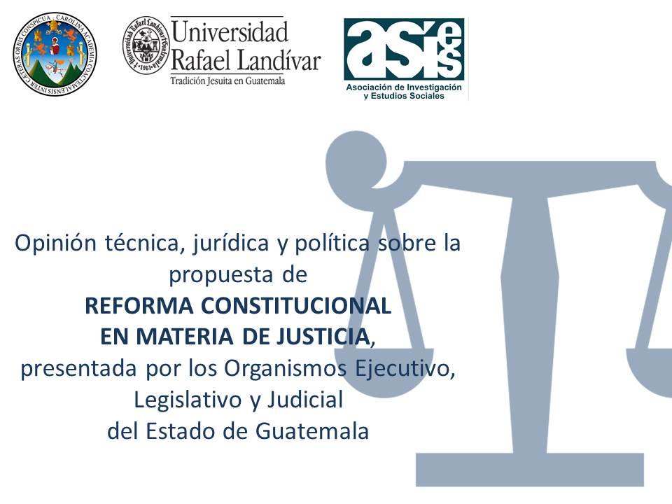 Opinión reforma constitucional