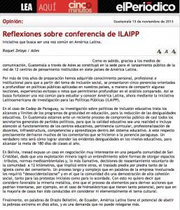 Artículo de Prensa ILAIPP