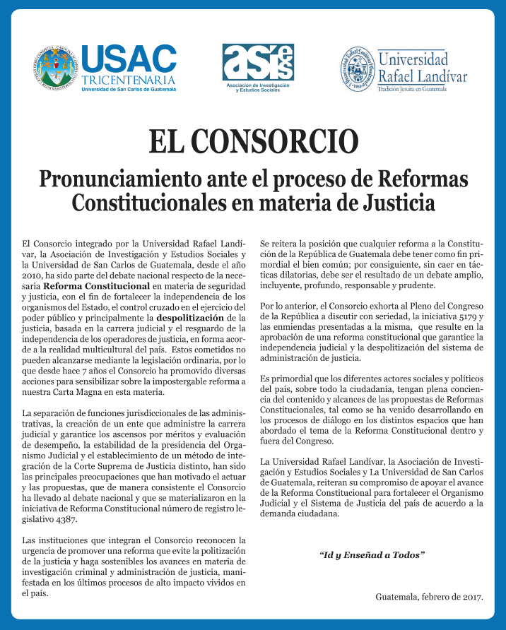 Pronunciamiento Consorcio-Reforma constitucional (0217)