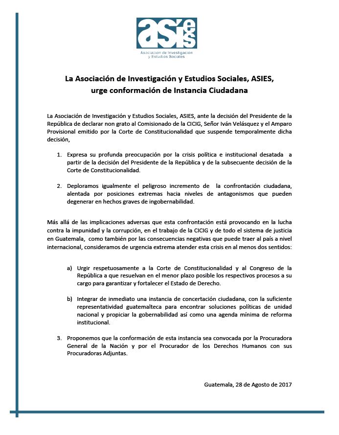 Comunicado ASIES 280817